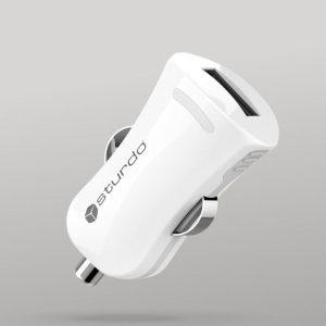 Autonabíjačka Mini 1x USB STURDO 2A biela