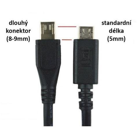 Dátový kábel micro USB 1m dlhá koncovka