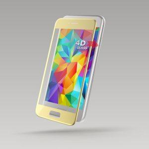 Ochranné tvrdené sklo 4D Fullcover STURDO SAMSUNG Galaxy A3 2017 zlaté