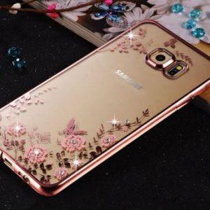 Puzdro FLOWER SAMSUNG Galaxy A5/A8 2018 zlato-ružový