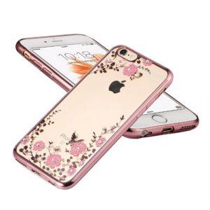 Púzdro FLOWER iPhone X/XS zlato-ružový