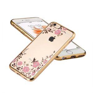 Púzdro FLOWER iPhone X/XS zlatý