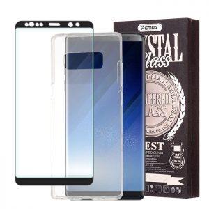 Púzdro REMAX Crystal SAMSUNG Galaxy Note 8 + REMAX 5D ochranné tvrdené sklo čierne #00000503