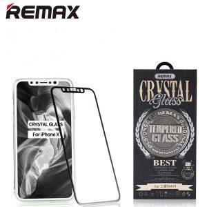 Púzdro REMAX Crystal iPhone X/XS + REMAX 5D ochranné tvrdené sklo biele #00000502