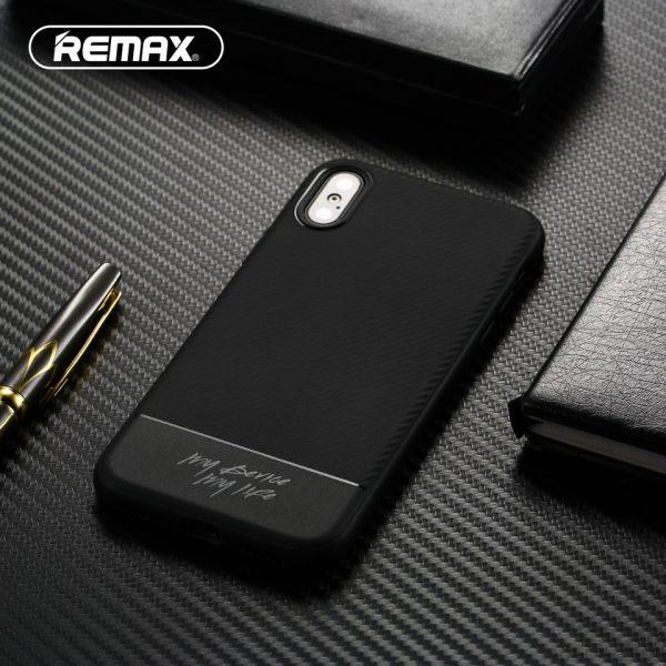 Púzdro REMAX Vigor Carbon iPhone X/XS