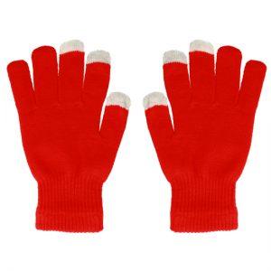 Dotykové rukavice červené