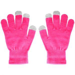 Dotykové rukavice ružové