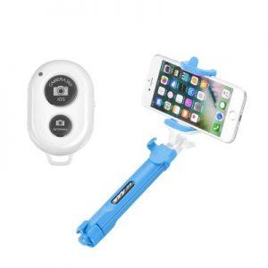 BlueStar Bluetooth selfie tyč so statívom modrá
