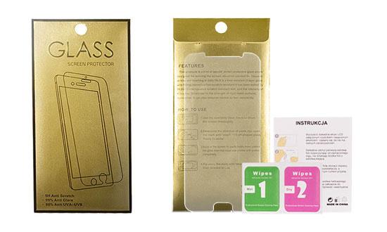 Glass Gold 9H ochranné tvrdené sklo iPhone 4/4S #00000302