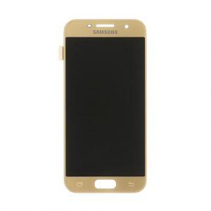 Samsung Galaxy A3 2017 (A320) – Originál LCD displej a dotyková plocha zlatý (Service Pack)