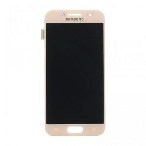 Samsung Galaxy A3 2017 (A320) – Originál LCD displej a dotyková plocha ružový (Service Pack)
