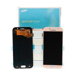 Samsung Galaxy A5 2017 (A520) – Originál LCD displej a dotyková plocha ružový (Service Pack)