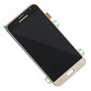 Samsung Galaxy J3 2016 (J320) – Originál LCD displej a dotyková plocha zlatý (Service Pack)