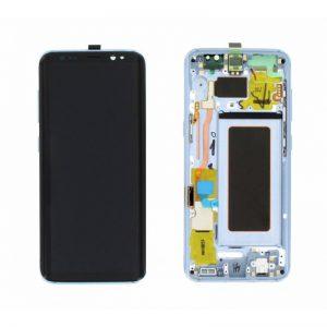 Samsung Galaxy S8 (G950F) – Originál LCD displej a dotyková plocha s rámom modrý (Service Pack)