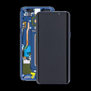 Samsung Galaxy S9 Plus (G965F) – Originál LCD displej a dotyková plocha s rámom modrý (Service Pack)