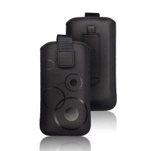 Nasúvacie púzdro Forcell Deko – Samsung Galaxy S3 Mini/Trend/i9000 čierne