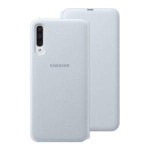 Puzdro Samsung EF-WA505PWE Wallet Flip Galaxy A50 biele