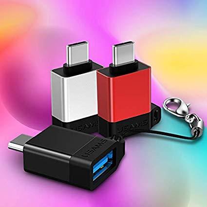 Redukcia USAMS SJ186 OTG USB – Type C červená
