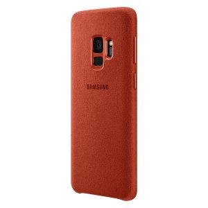 Púzdro Samsung EF-XG960AR Alcantara Cover Galaxy S9 červené