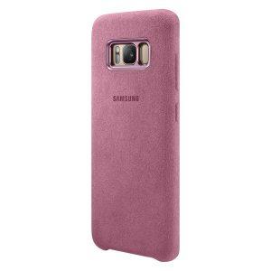 Púzdro Samsung EF-XG950AP Alcantara Cover pre Galaxy S8 ružové
