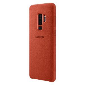 Púzdro Samsung EF-XG965AR Alcantara Cover Galaxy S9 plus červené