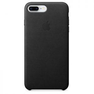Púzdro Apple iPhone 8 Plus Leather Case – čierne