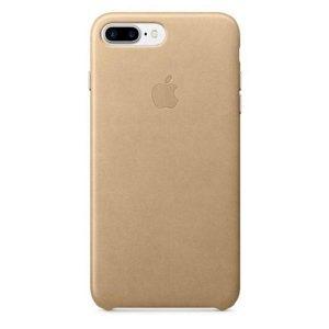 Púzdro Apple iPhone 7/8 Plus Leather Case – pieskovo hnedé
