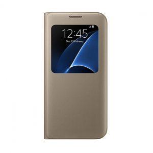 Púzdro Samsung EF-CG935PF S-View Cover Galaxy S7 Edge zlaté