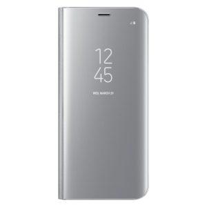 Púzdro Samsung EF-ZG950CS Clear View Galaxy S8 strieborné