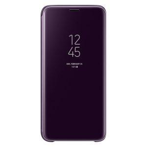 Púzdro Samsung EF-ZG960CV Clear View Galaxy S9 fialové
