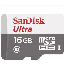 Pamäťová karta SanDisk microSDHC 16GB class 10 bez adaptéra