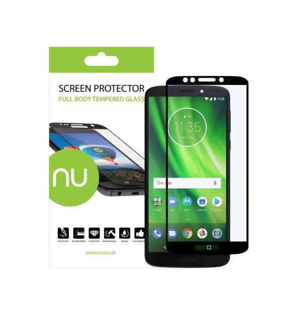 NUVO ochranné tvrdené sklo pre Motorola Moto G6 PLAY čierne #00001686