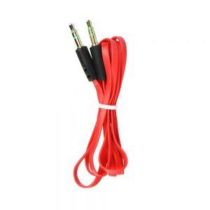 Audio kábel FLAT AUX 3,5mm – 3,5mm Jack červený