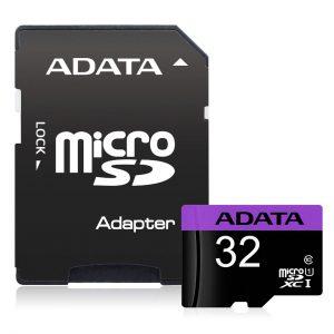 Pamäťová karta Micro SDHC ADATA 32GB Class 10 + adaptér