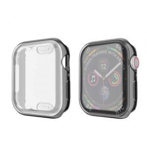 KINGMAS púzdro 360 Slim Apple Watch Series 4/5/6/SE 44mm čierny rám CA00065E