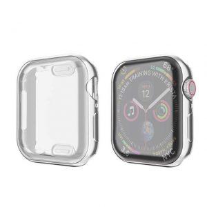 KINGMAS púzdro 360 Slim Apple Watch Series 4/5 44mm strieborný rám