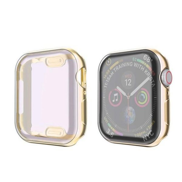 KINGMAS púzdro 360 Slim Apple Watch Series 4/5 44mm zlatý rám