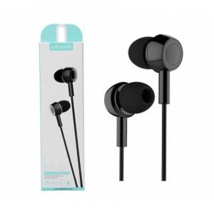 Slúchadlá USAMS EP-12 Stereo Headset 3,5mm Jack čierne