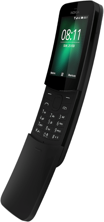 NOKIA 8110 4G SINGLE SIM ČIERNA