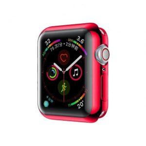 KINGMAS Puzdro 360 Slim Apple Watch Series 4/5/6/SE 44mm červený rám CA00064E