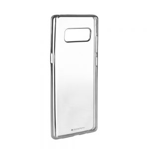 Púzdro Mercury Jelly Ring 2 – SAMSUNG Galaxy Note 8 strieborný rám