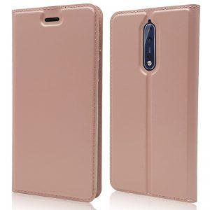 Knižka Luxury Wallet – Nokia 5 ružová