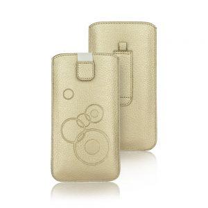 Nasúvacie púzdro Forcell Deko – iPhone X/XS zlaté