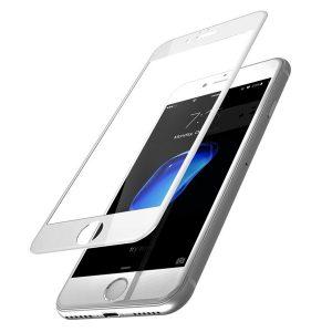 KINGMAS ochranné tvrdené sklo Real Glass 5D pre Apple iPhone 7/8/SE 2020 biele GA00049E