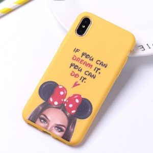 "Fashion púzdro Candy ""If you can dream it, you can do it"" iPhone X/XS žlté"