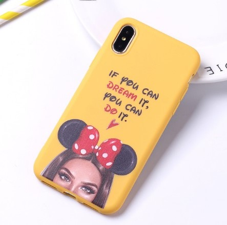 "Fashion púzdro Candy ""If you can dream it, you can do it"" iPhone XR žlté"