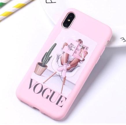 """Fashion púzdro Candy """"Vogue"""" iPhone XR ružové"""