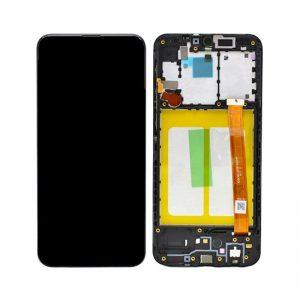 Samsung Galaxy A20e (A202F) – Originál LCD displej a dotyková plocha s rámom čierny (Service Pack)