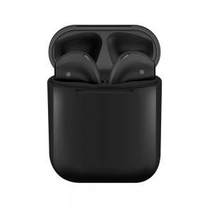 Slúchadlá Bluetooth i12 TWS Power Bank čierne