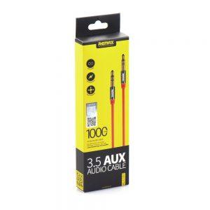 Audio kábel REMAX (L100) AUX 3,5mm – 3,5mm Jack 1m červený